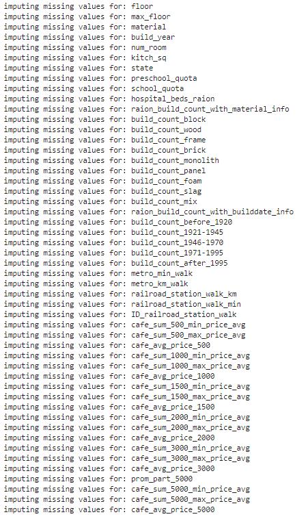 imputing missing values