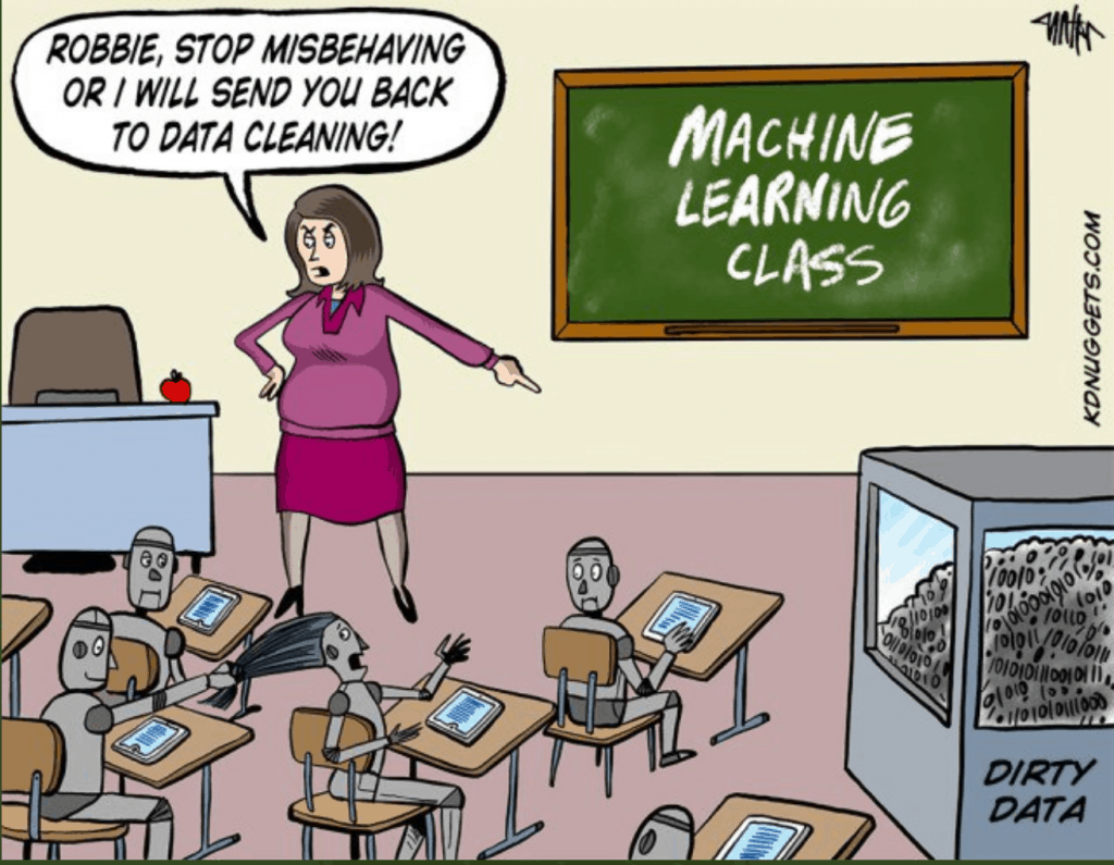 machine learning class - send you back to data cleaning